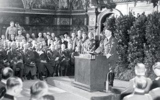 Ο Χίτλερ απευθύνεται στο γερμανικό έθνος και στον κόσμο από το Γκντανσκ μετά τη γερμανική εισβολή στην Πολωνία, στις 19 Σεπτεμβρίου 1939. (Φωτ. SHUTTERSTOCK)