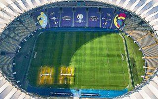 Στις 03.00 ώρα Ελλάδος, το επιβλητικό Μαρακανά θα υποδεχθεί τη Βραζιλία και την Αργεντινή, στην πρώτη τους αναμέτρηση σε τελικό από το Κόπα Αμέρικα του 2007 (φωτ.REUTERS).
