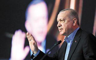 Κατά την επίσκεψή του, ο Ταγίπ Ερντογάν αναμένεται να κάνει ανακοινώσεις αναφορικά με τα επόμενα βήματα που σχεδιάζει η Αγκυρα για τα Βαρώσια, αλλά και για τη δημιουργία βάσης για τα τουρκικά μη επανδρωμένα αεροσκάφη (φωτ. Α.Ρ.).