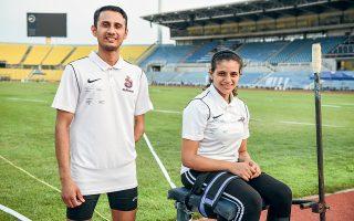 Οι δύο αθλητές αγωνίστηκαν αυτές τις ημέρες στο Πανελλήνιο Πρωτάθλημα Στίβου ΑμεΑ στη Θεσσαλονίκη – τη μεγαλύτερη αθλητική διοργάνωση στην Ελλάδα για άτομα με αναπηρία. Ο Ναντίμ Αχμάντ συμμετέχει στον Α.Σ. Αργοναύτες ΑμεΑ Βόλου και η Αλία Ισσα στο Α.Σ. Τυρταίου. (Φωτ. ΑΛΕΞΑΝΔΡΟΣ ΑΑΒΡΑΜΙΔΗΣ)