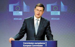 Στη συνέντευξη Τύπου μετά το Ecofin, ο εκτελεστικός αντιπρόεδρος της Επιτροπής Βάλντις Ντομπρόβσκις σημείωσε ότι, βάσει των νεότερων δεδομένων, η καταβολή της προχρηματοδότησης θα μπορέσει να γίνει στο σύνολό της και όχι σε δόσεις, όπως πιθανολογούνταν μέχρι και πριν από λίγες ημέρες.