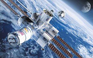 Κάποιοι τουρίστες του Διαστήματος μπορεί να θέλουν και... διανυκτέρευση. Ετσι, η εταιρεία αεροδιαστημικής Orion Span εμπνεύστηκε την κατασκευή του σταθμού Αουρόρα (στη φωτ. η ψηφιακή αναπαράστασή του), του πρώτου πεντάστερου διαστημικού καταλύματος. (Φωτ. ORION SPAN)
