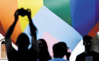 Διαμαρτυρία στην Ουγγαρία κατά του νόμου που απαγορεύει τις αναφορές στην ομοφυλοφιλία στο πλαίσιο του σχολικού μαθήματος (φωτ. REUTERS / Marton Monus).