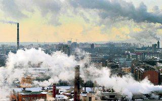 Ο Γκάια Χέριγκτον, στέλεχος της KPMG, εξέτασε 10 βασικές μεταβλητές, όπως ο πληθυσμός, η βιομηχανική παραγωγή και η συνεχής ρύπανση (φωτ. AFP).