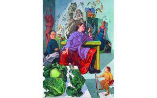 «Η καλλιτέχνις στο ατελιέ της». Εργο της Πάουλα Ρέγκο από το 1993. Φωτ. PAULA REGO