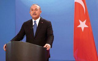 O Τούρκος υπουργός Εξωτερικών ισχυρίστηκε πως με το άνοιγμα των Βαρωσίων δεν παραβιάζονται τα δικαιώματα ιδιοκτησίας και τα ψηφίσματα του Σ.Α., ούτε το διεθνές δίκαιο (φωτ. Annegret Hilse/Pool via AP).
