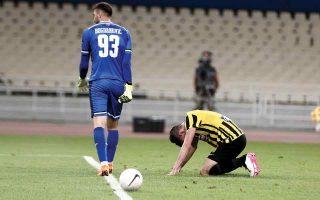 Η ΑΕΚ πλήρωσε τα λάθη και στα δύο παιχνίδια και αποκλείστηκε από την άσημη Βελέζ Μόσταρ. (Φωτ. INTIME NEWS)