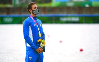 «Ακόμη δεν το έχω συνειδητοποιήσει», δήλωσε στην «Κ» λίγη ώρα μετά τη νίκη του ο 24χρονος «χρυσός» ολυμπιονίκης.  Φωτ. REUTERS