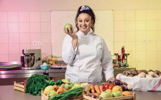 Η αγάπη της για τη μαγειρική είναι δεδομένη, αλλά δεν σκοπεύει να της αφιερωθεί αποκλειστικά. Ονειρεύεται οικογένεια, παιδιά, φίλους και ξέγνοιαστες στιγμές. (Φωτογραφίες: ΚΩΣΤΗΣ ΣΩΧΩΡΙΤΗΣ)