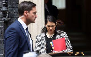 Η Βρετανίδα υπουργός Εσωτερικών, Πρίτι Πατέλ (φωτ.: Reuters).