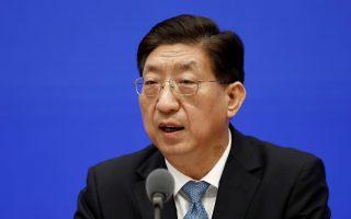 Ο υφυπουργός Υγείας, αρμόδιος για την Εθνική Επιτροπή Υγείας της Κίνας, Ζενγκ Γισίν (φωτ.: Reuters).