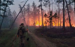 Ο χειμώνας δεν εμπόδισε δασικές περιοχές σε τόπους όπως η Σιβηρία ή ο Καναδάς να καίγονται για εβδομάδες (φωτ. A.P. Photo / Ivan Nikiforov).