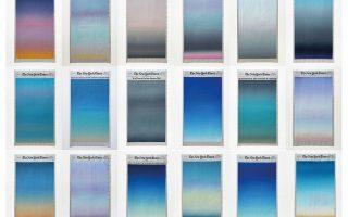 Οι χρωματισμοί του ουρανού κάθε μέρα του Απριλίου, όπως τους έβλεπε ο ο Σιμπούγια, από το παράθυρο του διαμερίσματός του.