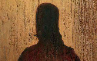Ο Γεώργιος Καραϊσκάκης, όπως τον «είδε» ο ζωγράφος Χρήστος Μποκόρος: σαν σκιά. Από την ατομική έκθεση «1821, η γιορτή» στο Μουσείο Μπενάκη.