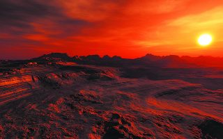 Oσο η ώρα ενός «καλοκαιρινού σούρουπου στον ήρεμο εύκρατο πλανήτη Aρη» είναι ακόμα μακριά, ας αναλογιστούμε πώς αντιμετωπίζουμε τώρα εμείς το δικό μας καλοκαίρι, στον βασανισμένο πλανήτη που ονομάζεται Γη. Φωτ. SHUTTERSTOCK