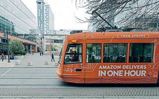Η μεγάλη εξάπλωση της «Δέλτα» καθιστά ανέφικτη, επί του παρόντος, την επαναλειτουργία του εργασιακού χώρου, αναφέρει ο κολοσσός του ηλεκτρονικού εμπορίου Amazon (φωτ. AP Photo / Ted S. Warren).