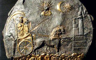 O Δίσκος της Κυβέλης του 3ου αιώνα π.Χ., που ανακαλύφθηκε στο Αϊ Χανούμ, αποτυπώνει τη σύζευξη ελληνικών και ανατολικών πολιτισμικών στοιχείων (φωτ. Εθνικό Μουσείο Αφγανιστάν / Μουσείο Γκιμέ, Παρίσι ).