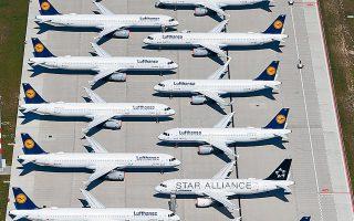 Η Lufthansa είχε λάβει 6 δισ. ευρώ από το Ταμείο Οικονομικής Σταθεροποίησης του γερμανικού Δημοσίου (φωτ. EPA).