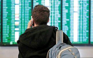 Στις ΗΠΑ, βάσει των στοιχείων της Ομοσπονδιακής Διοίκησης Αερο-πλοΐας, το 35% των πτήσεων το 2004 είχε  ακυρωθεί λόγω καιρού εν συγκρίσει με το 54% το 2019 (φωτ. AP).