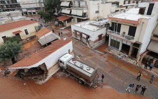 Πολλοί κάτοικοι στη Μάνδρα έχασαν τις περιουσίες τους κατά τις καταστροφικές πλημμύρες το 2017. (Φωτ. INTIME NEWS)