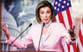 Η πρόεδρος της Βουλής των Αντιπροσώπων Νάνσι Πελόσι τόνισε πως «το πακέτο αυτό επί γενιές θα έχει μια θέση δίπλα στο Νιου Ντιλ». (Φωτ. Reuters)