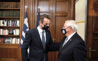 Σε εγκάρδιο κλίμα πραγματοποιήθηκε η χθεσινή συνάντηση του πρωθυπουργού Κυρ. Μητσοτάκη με τον πρόεδρο της Επιτροπής Εξωτερικών  Σχέσεων της Γερουσίας των ΗΠΑ, γερουσιαστή Ρόμπερτ Μενέντεζ. (Φωτ. SOOC)