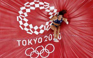 Η Κατερίνα Στεφανίδη ξεκίνησε από τα 4.55 μ., τα οποία πέρασε με τη δεύτερη προσπάθεια (φωτ. REUTERS).