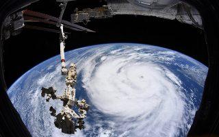 Εικόνα από τον ISS αποκαλύπτει το μέγεθος του τυφώνα Άιντα. EUROPEAN SPACE AGENCY