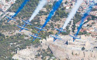 To ακροβατικό σμήνος «Patrouille de France». Φωτογραφία: AMBASSADE DE FRANCE EN GRÈCE