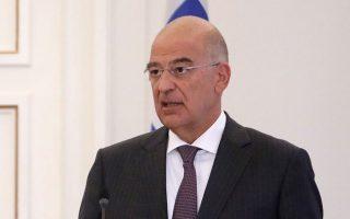 Ο κ. Νίκος Δένδιας τόνισε ότι είναι καταδικαστέα η πρακτική σκαφών της τουρκικής ακτοφυλακής, τα οποία συνοδεύουν τα τουρκικά αλιευτικά και παρενοχλούν τα ελληνικά (φωτ. INTIME NEWS).