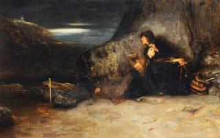Δεκάδες έργα έχουν σταλεί από την Ελλάδα, ανάμεσά τους και «Το τάμα» (1886) του Νικολάου Γύζη, ενώ συνδράμουν επίσης μουσεία της Γαλλίας και η Εθνική Βιβλιοθήκη της (φωτ. ΣΤΑΥΡΟΣ ΨΗΡΟΥΚΗΣ).