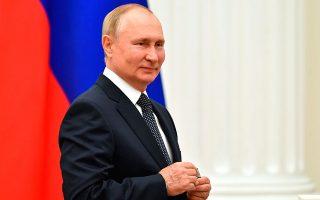 Φωτ. Yevgeny Biyatov, Sputnik, Kremlin Pool Photo via AP
