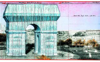 Μελέτη του Κρίστο για την Αψίδα του Θριάμβου στο Παρίσι. Φωτ. TASCHEN
