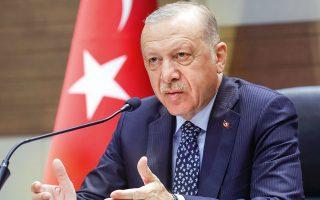 Εντύπωση προκάλεσε η τηλεφωνική επαφή που είχε ο Ταγίπ Ερντογάν με τον πρωθυπουργό της Ιτα-λίας, Μάριο Ντράγκι. (Φωτ. Turkish Presidency / A.P.)