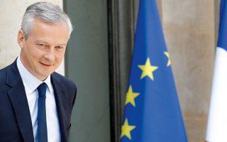 Ο Γάλλος υπουργός Οικονομικών Μπρινό Λε Μερ επισήμανε, πάντως, ότι θα προτιμούσε να αυξηθεί ο αριθμός των απασχολουμένων και όχι ο κατώτατος μισθός, φοβούμενος πως θα δημιουργηθούν περαιτέρω πληθωριστικές πιέσεις. (Φωτ. Reuters)