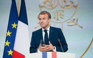 Ο Γάλλος πρόεδρος Εμανουέλ Μακρόν –που πρόσφατα χαρακτήρισε την τριμερή συμφωνία AUKUS «πισώπλατο χτύπημα»– δεν θα μεταβεί στη Νέα Υόρκη για να παραστεί στη Γενική Συνέλευση του ΟΗΕ (φωτ. Gonzalo Fuentes / Pool Photo via A.P.).