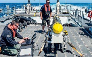 Τα συστήματα drones που θα αξιοποιηθούν στο Μπαχρέιν δοκιμάστηκαν με επιτυχία στις ναυτικές ασκήσεις τον Απρίλιο από τον αμερικανικό στόλο του Ειρηνικού (φωτ. U.S. Navy/Lt. Cmdr. Tony Wright, via A.P.).