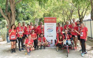 Οι συμμετέχοντες στον Ημιμαραθώνιο της Αθήνας.