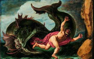 «Ο Ιωνάς και η φάλαινα», έργο του 1621 που φιλοτέχνησε ο Πίετερ Λάστμαν. Η «φάλαινα» του πίνακα είναι, βέβαια, πλάσμα της φαντασίας του καλλιτέχνη.