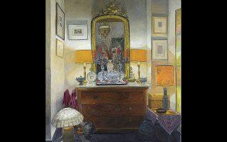 Λήδα Κοντογιαννοπούλου, «Στο σπίτι του Παναγιώτη Τέτση: νυχτερινό με τέσσερις λάμπες».