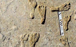 Οι ανθρώπινες πατημασιές βρίσκονταν θαμμένες ανάμεσα σε στρώματα εδάφους στο εθνικό πάρκο White Sands (φωτ. NPS via A.P.).