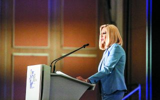 Η κ. Φώφη Γεννηματά θα δώσει τη μάχη με τη συνέχιση της πορείας του ΚΙΝΑΛ στην κορυφή της ατζέντας της. Φωτ. INTIME NEWS