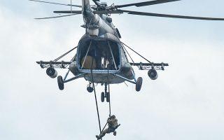 Αν και η Ουκρανία δεν είναι μέλος του ΝΑΤΟ, την προηγούμενη εβδομάδα οι ουκρανικές ένοπλες δυνάμεις πραγματοποίησαν κοινές ασκήσεις με δυνάμεις των ΗΠΑ και άλλων μελών του ΝΑΤΟ (φωτ. A.P. Photo / Pavlo Palamarchuk).