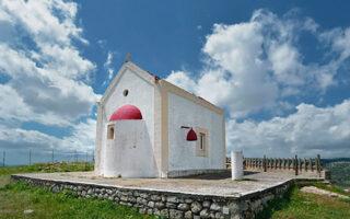 Ο ναός του Προφήτη Ηλία, που γκρεμίστηκε.