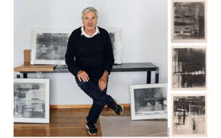 Στην ατομική έκθεση «Insight» του Γιάννη Αδαμάκου παρουσιάζεται ένα τμήμα της εικαστικής δημιουργίας του καλλιτέχνη από το 2019 έως το 2021, έργα φτιαγμένα αποκλειστικά με γραφίτη (φωτ. Νίκος Κοκκαλιάς).