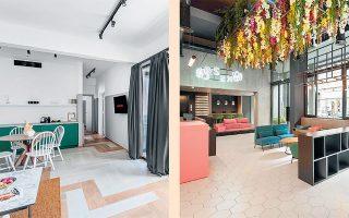 Τα ξενοδοχεία πόλης ξεφυτρώνουν σαν μανιτάρια στην Αθήνα, αναβαθμίζοντας αισθητά την περιοχή του ιστορικού κέντρου. Στις φωτογραφίες (από αριστερά) το Soul Hotel στην οδό Θεάτρου, το Colors Hotels Athens στην Εμμ. Μπενάκη.