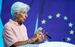 Το «σήμα» που έστειλε η Κριστίν Λαγκάρντ, ότι η περίπτωση της Ελλάδας θα εξεταστεί τον Δεκέμβριο, καθησύχασε τις αγορές (φωτ. EPA).
