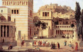 Λέο φον Κλέντσε, «Το όραμα της νέας Αθήνας», περίπου 1862. Βασιλικά Ανάκτορα του Μονάχου.
