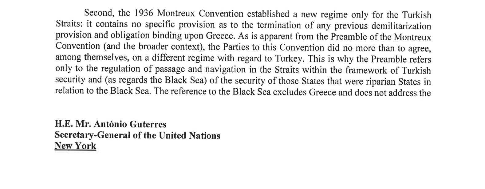 «Η Ελλάδα δεν έχει δικαιώματα στα νησιά» – Η «Κ» αποκαλύπτει την επιστολή της Τουρκίας στον ΟΗΕ, φωτογραφία-2