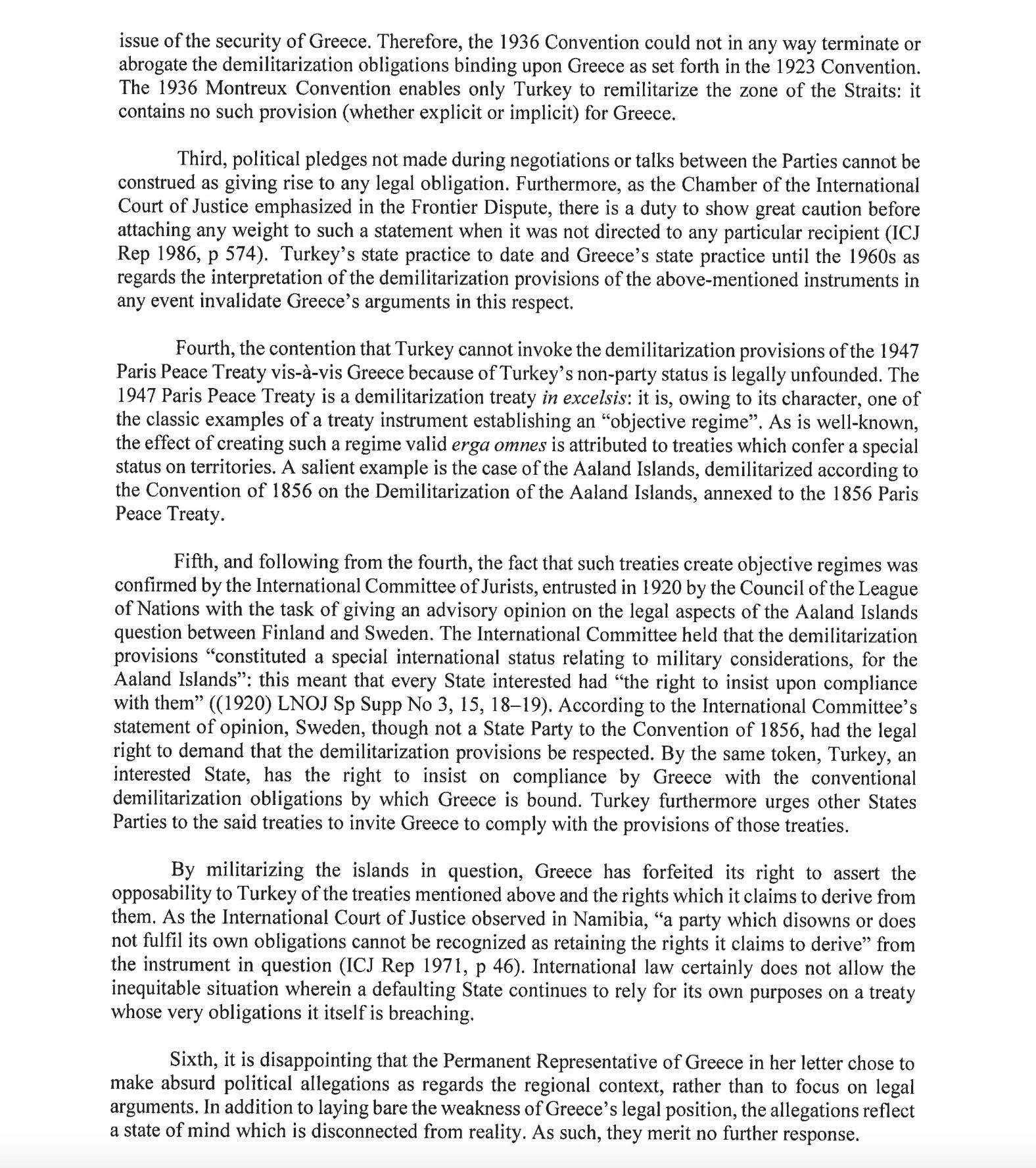 «Η Ελλάδα δεν έχει δικαιώματα στα νησιά» – Η «Κ» αποκαλύπτει την επιστολή της Τουρκίας στον ΟΗΕ, φωτογραφία-3